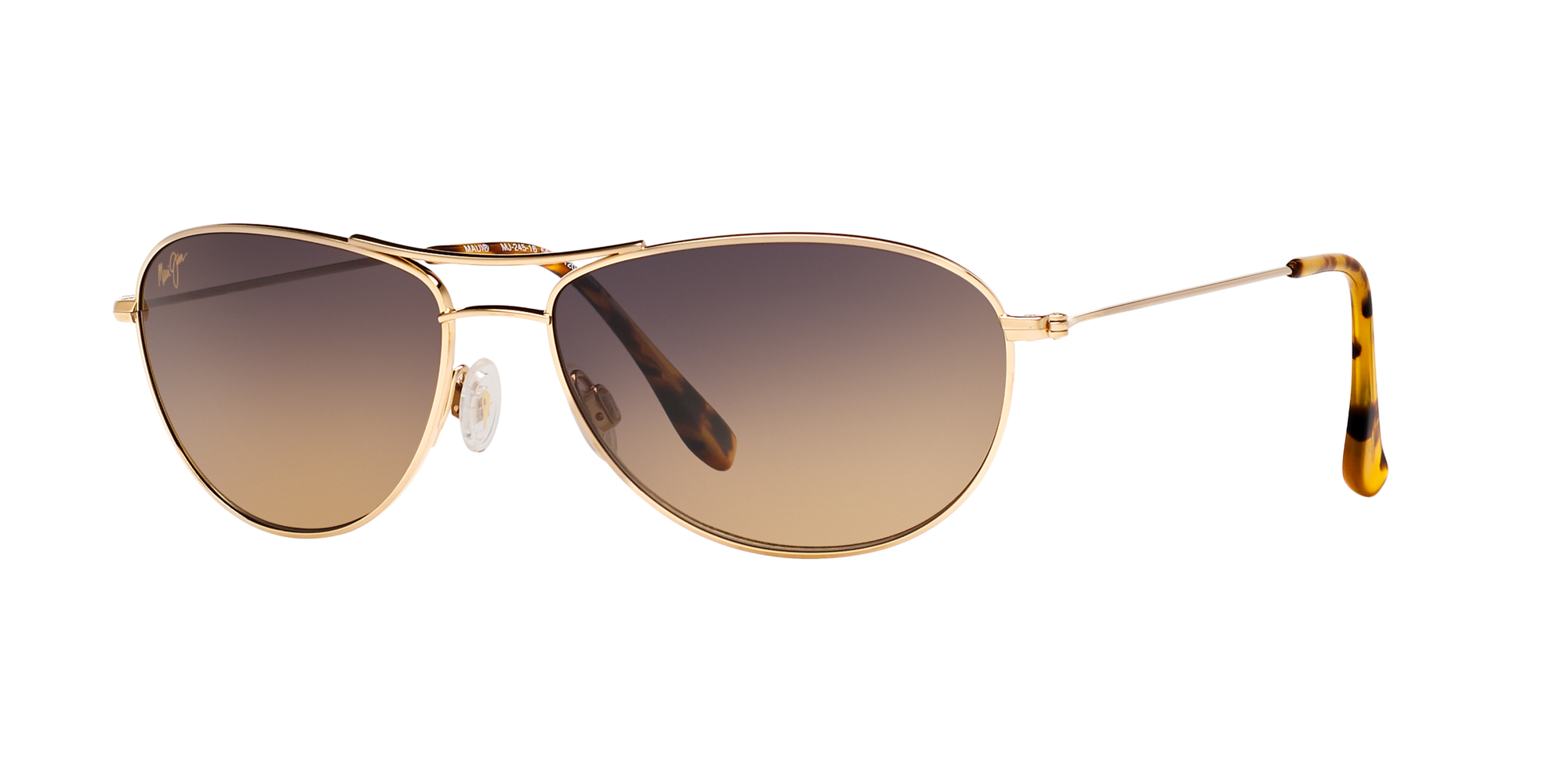 Maui Jim Baby Beach MJ245 16 Mens Womens Sunglasses Gold Frames Only 56-18-120