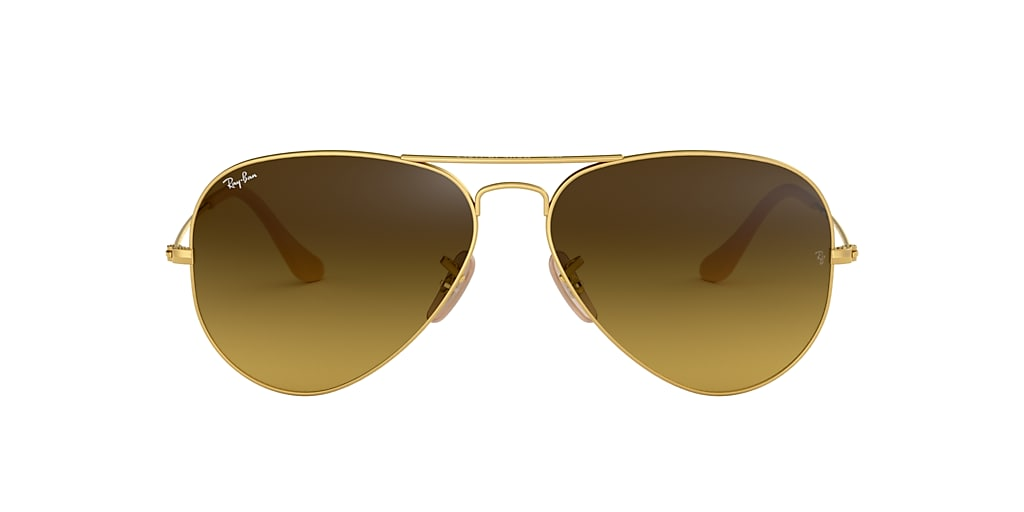 Gold RB3025 AVIATOR GRADIENT Brown Gradient  55