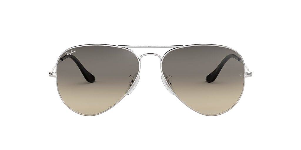 Silver RB3025 AVIATOR GRADIENT Grey-Black  58