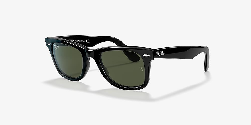 rotazione mentale girarsi  Ray-Ban RB2140 ORIGINAL WAYFARER CLASSIC 54 Green Classic G-15 & Black  Sunglasses | Sunglass Hut USA