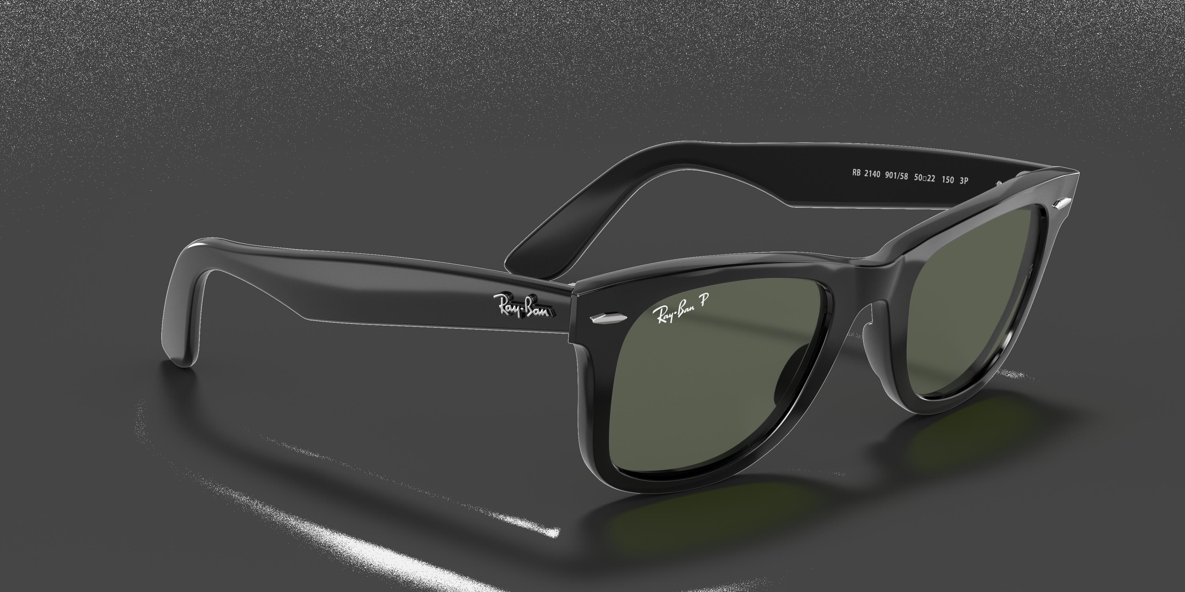 Sunglasses Retro Wayfarer Transparent with Sideburns Light Blue Green