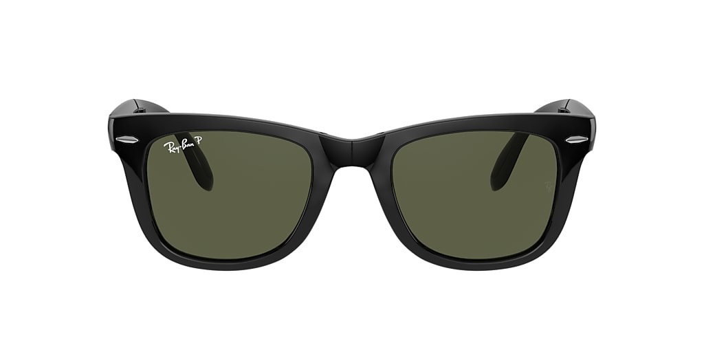 Black RB4105 WAYFARER FOLDING CLASSIC Polarized Green Classic G-15  50