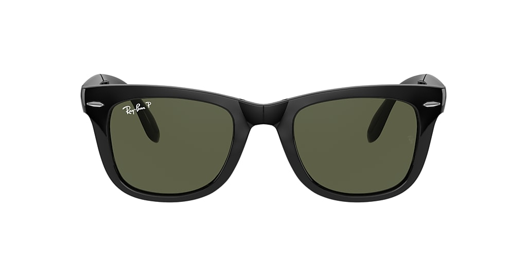 Black RB4105 WAYFARER FOLDING CLASSIC Polarized Green Classic G-15  54