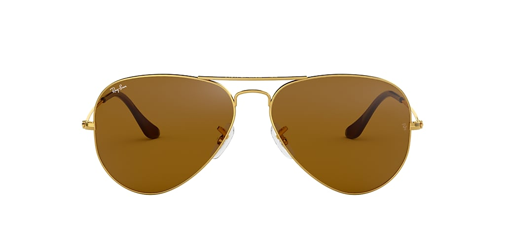 Gold RB3025 AVIATOR CLASSIC Brown  62