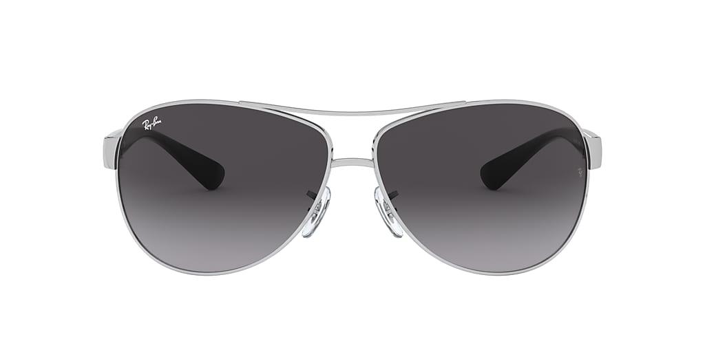 Silver RB3386 Grey Gradient  67
