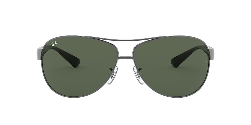 Gunmetal RB3386 Green  63