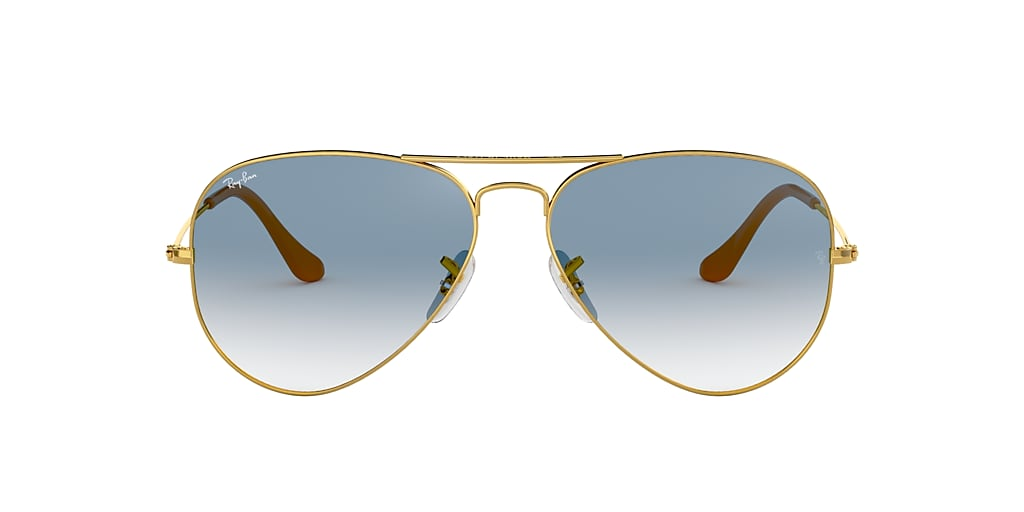 Gold RB3025 AVIATOR GRADIENT Light Blue Gradient  55