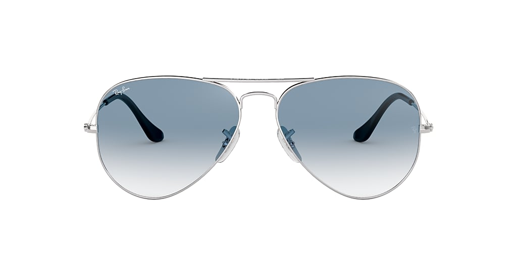 Silver RB3025 AVIATOR GRADIENT Light Blue Gradient  58