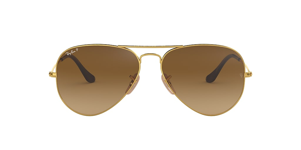 Gold RB3025 AVIATOR GRADIENT Polarized Brown Gradient  58