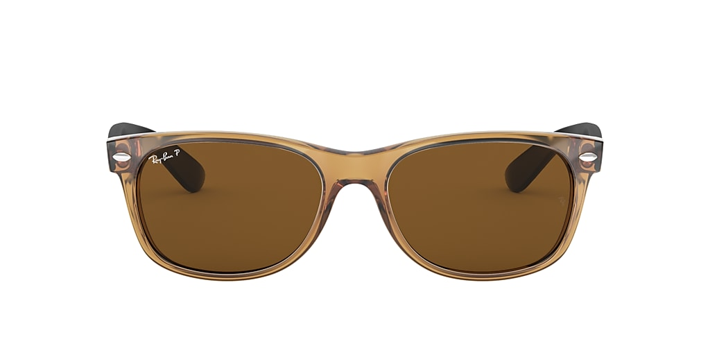 Honey RB2132 NEW WAYFARER BICOLOR Polarized Brown Classic B-15  55