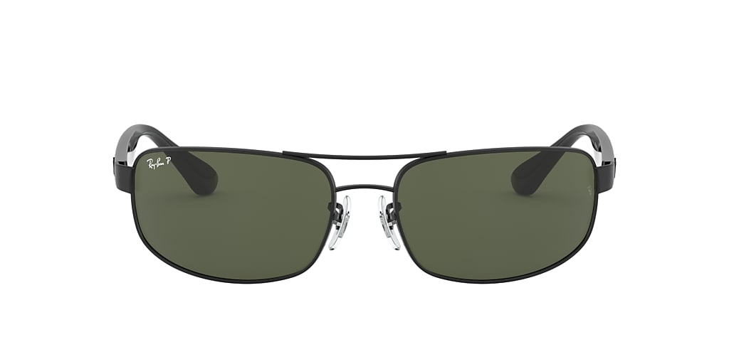 Black RB3445 Polarized Green Classic G-15  61