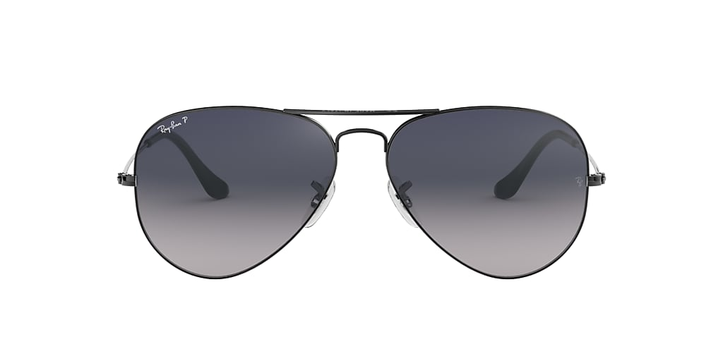 Gunmetal RB3025 AVIATOR GRADIENT Blue Gradient  62