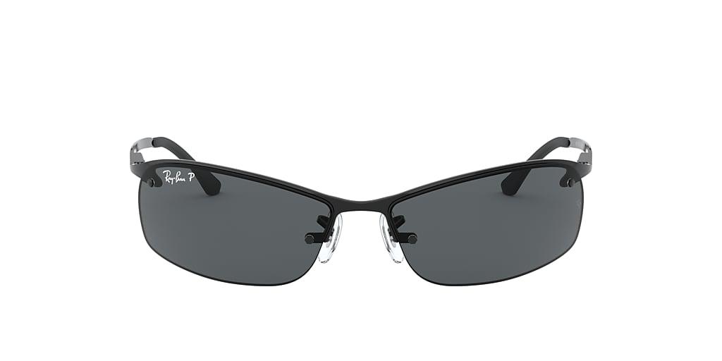 Black RB3183 Polarized Grey Gradient  63
