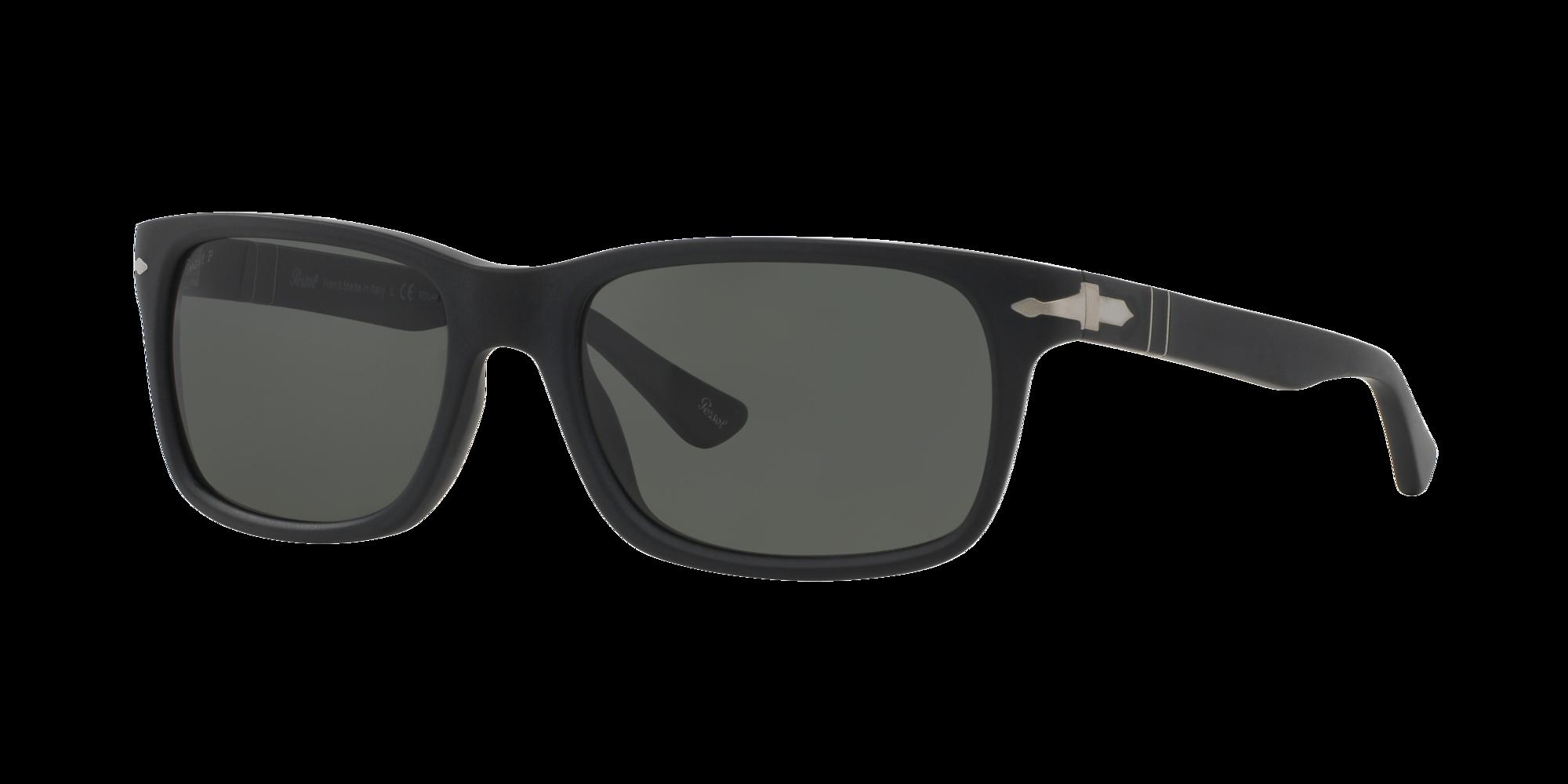 Persol PO3048S Black Frame Sunglasses with Grey-Black Lenses