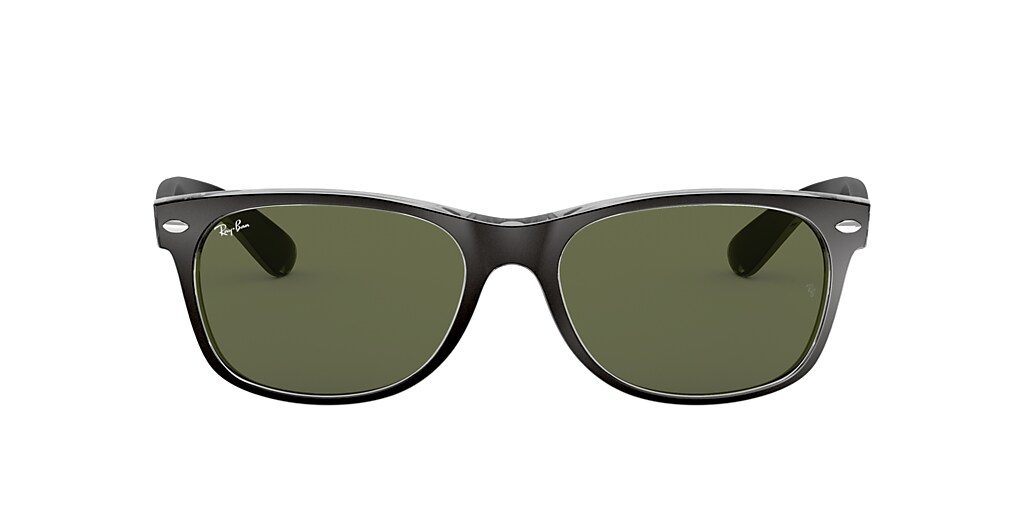 Black RB2132 NEW WAYFARER COLOR MIX Green Classic G-15  52