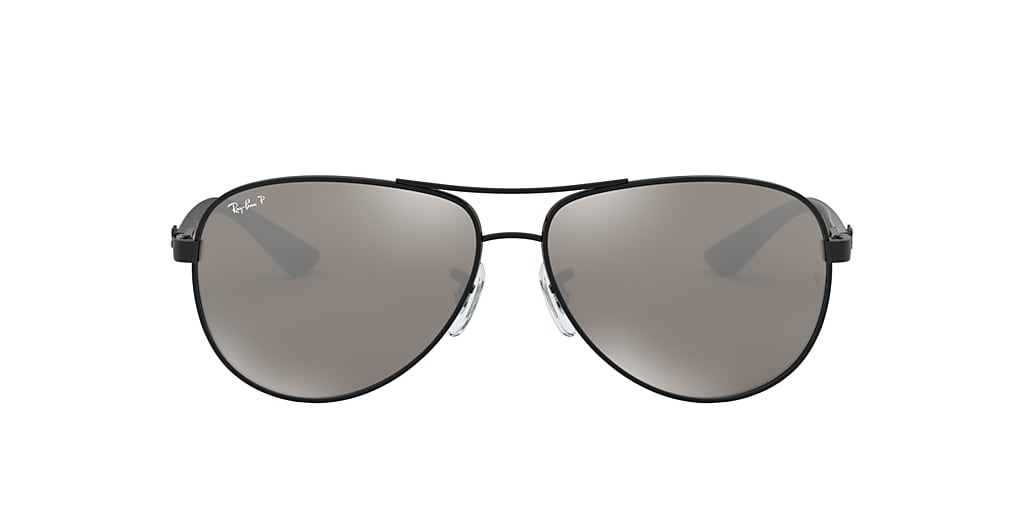 Black RB8313 Polarized Grey Mirror  61