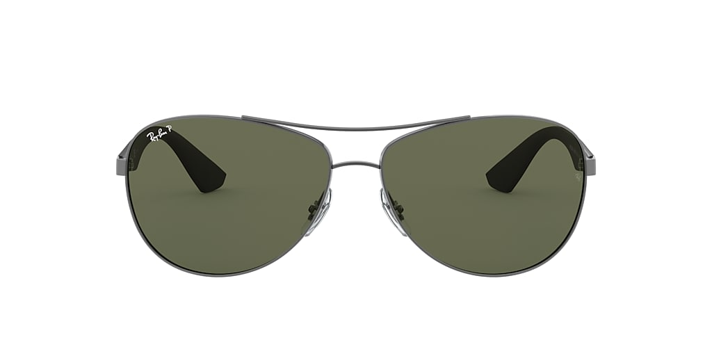 Gunmetal RB3526 Polarized Green Classic G-15  63