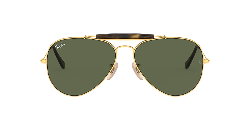 Gold RB3029 OUTDOORSMAN HAVANA COLLECTION Green  62