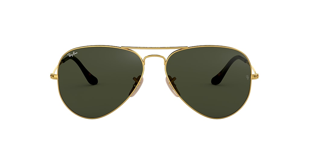 Gold RB3025 AVIATOR HAVANA COLLECTION Green Classic G-15  62