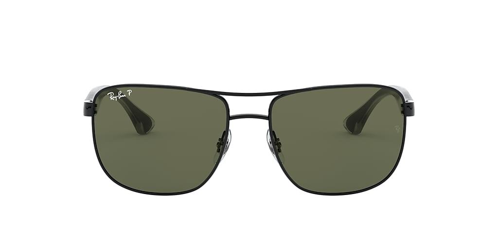 Black RB3533 Polarized Green Classic G-15  57