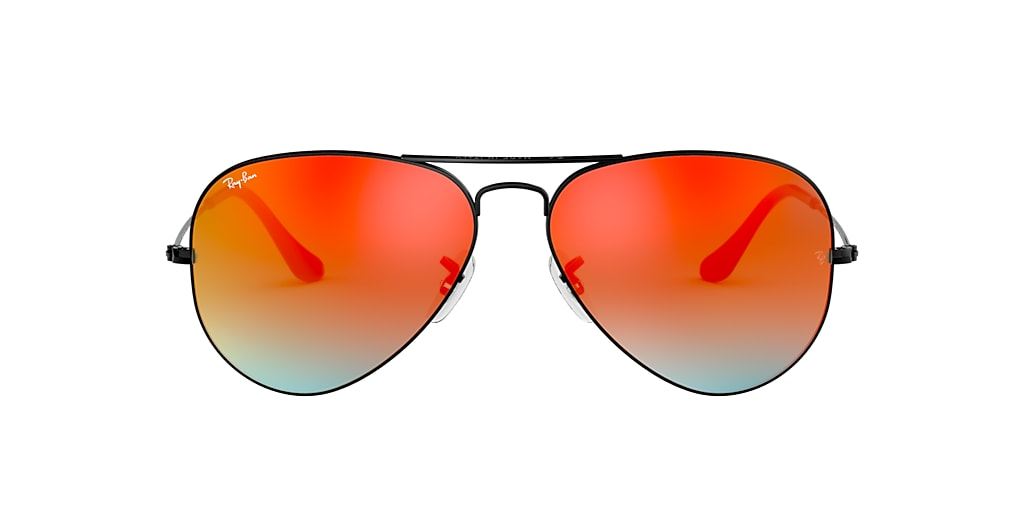 Black RB3025 AVIATOR GRADIENT Orange  58