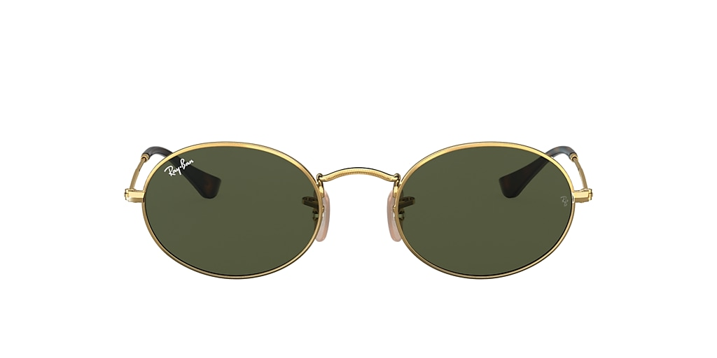 Gold RB3547N OVAL FLAT LENSES Green  51