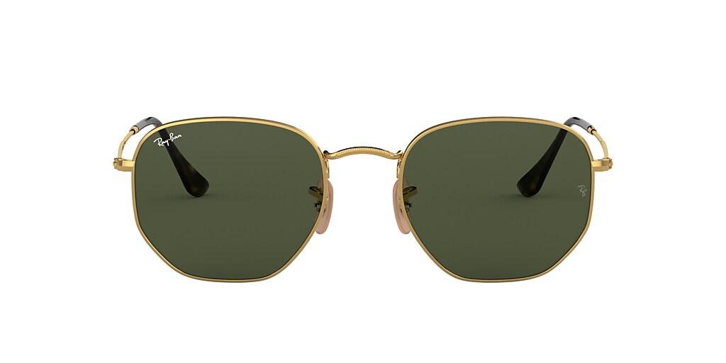 Gold RB3548N HEXAGONAL FLAT LENSES Green  48