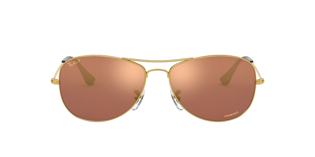 Gold RB3562 Chromance Purple Mirror Chromance Polarized  59