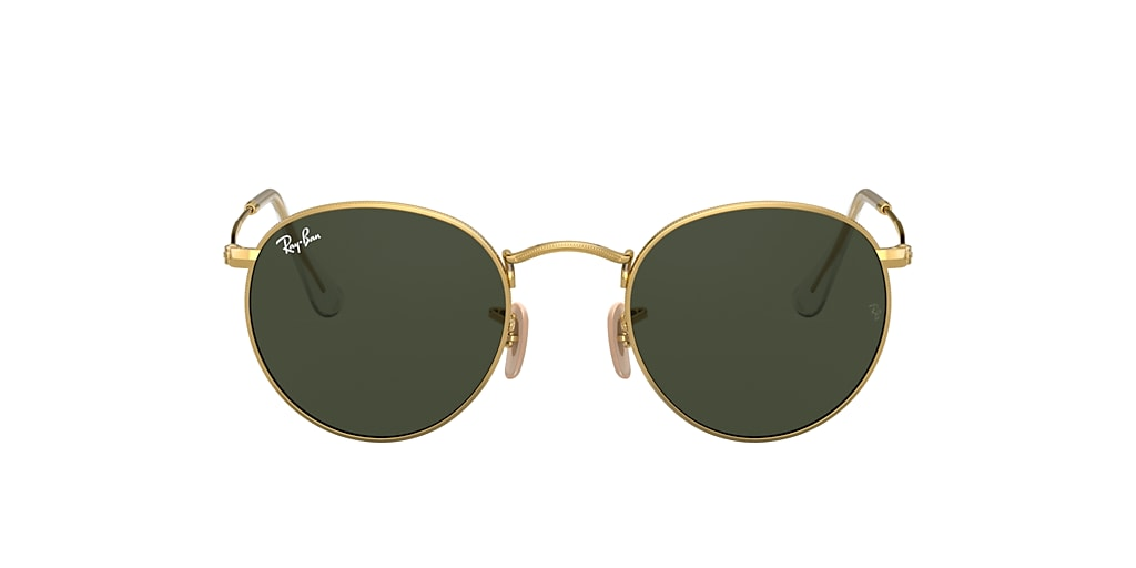 Gold RB3447 ROUND METAL Green Classic G-15  53