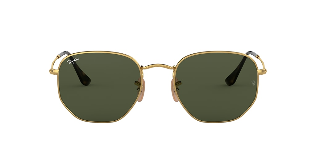 Oro RB3548N HEXAGONAL FLAT LENSES Verde  54