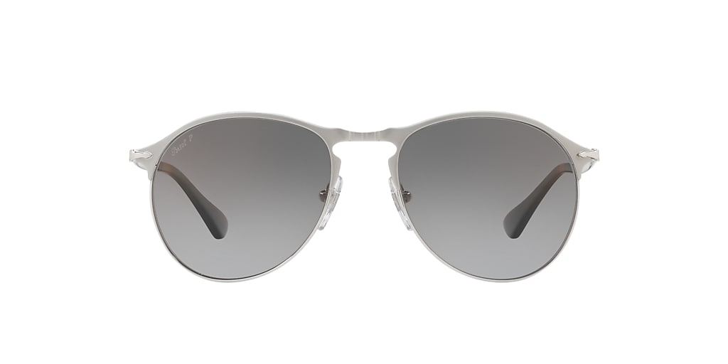 Silver PO7649S Polarized Grey Gradient  56