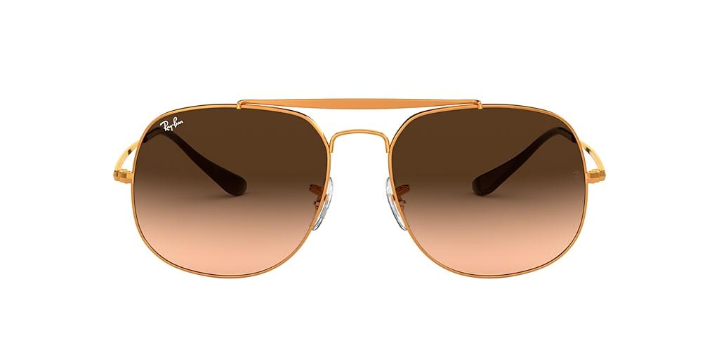 Bronze-Copper RB3561 GENERAL Brown/Pink Gradient  57