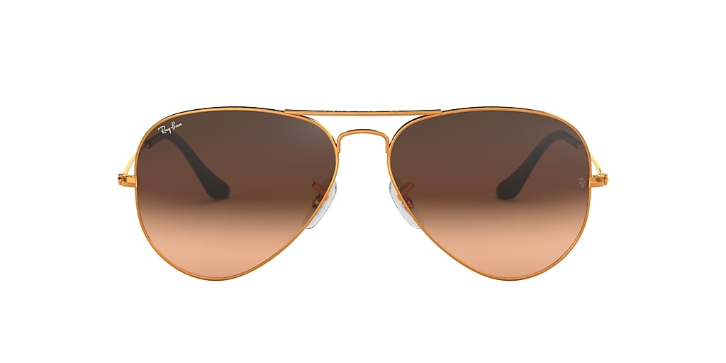 Bronze-Copper RB3025 AVIATOR GRADIENT Pink/Brown Gradient  58