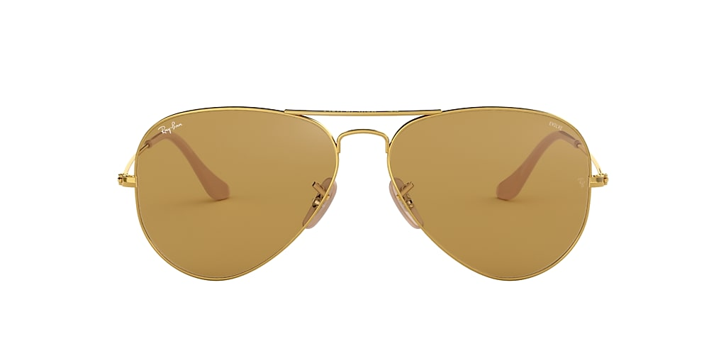 Gold RB3025 AVIATOR WASHED EVOLVE Brown  58