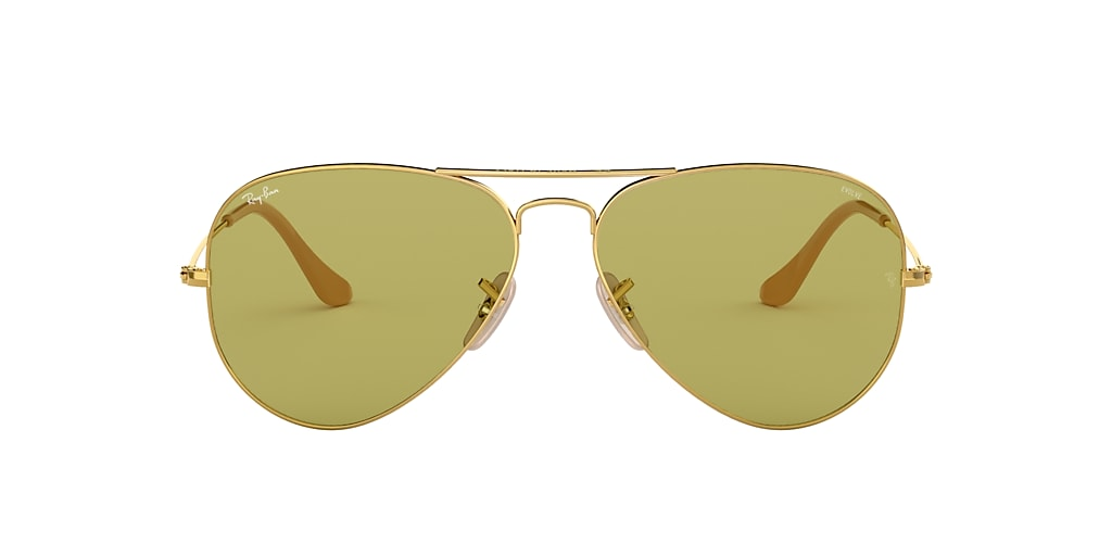 Gold RB3025 AVIATOR WASHED EVOLVE Green  58