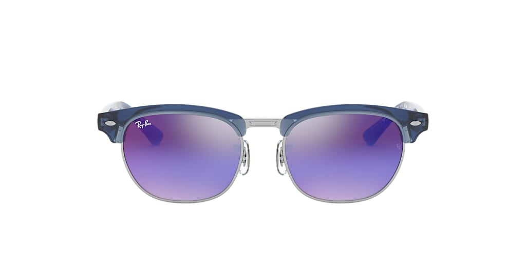 Blue RJ9050S CLUBMASTER JUNIOR Blue/Violet Gradient Mirror  45