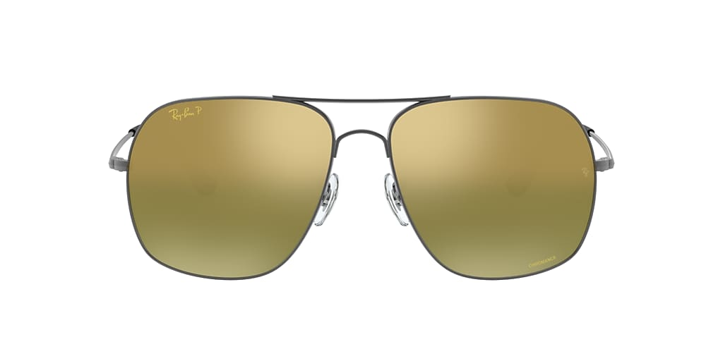 Gunmetal RB3587CH CHROMANCE Green Mirror Chromance Polarized  61
