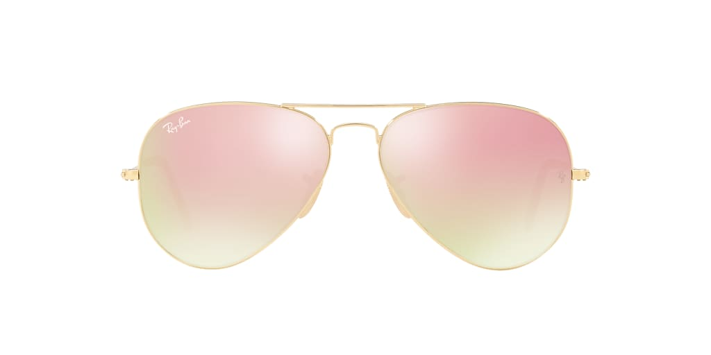 Or RB3025 AVIATOR LARGE METAL Cuivre  58