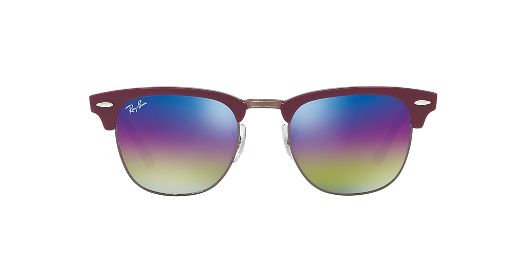 Bordeaux RB3016 CLUBMASTER MINERAL FLASH LENSES Blue Rainbow Flash  51