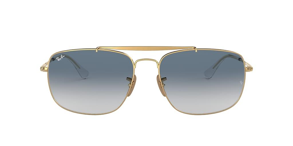 Gold RB3560 COLONEL Blue Gradient  61