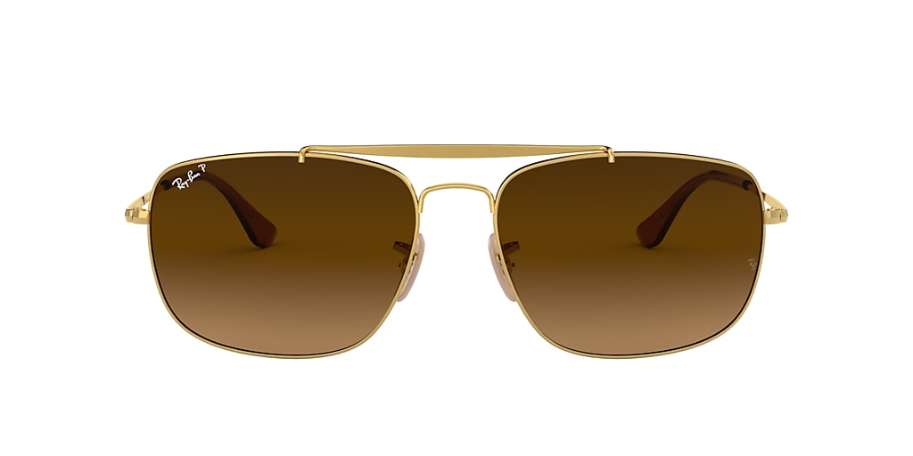 Gold RB3560 COLONEL Polarized Brown Gradient  61