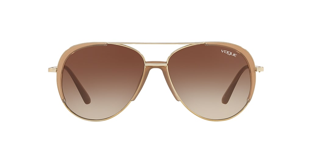 Gold VO4097S Brown Gradient  58