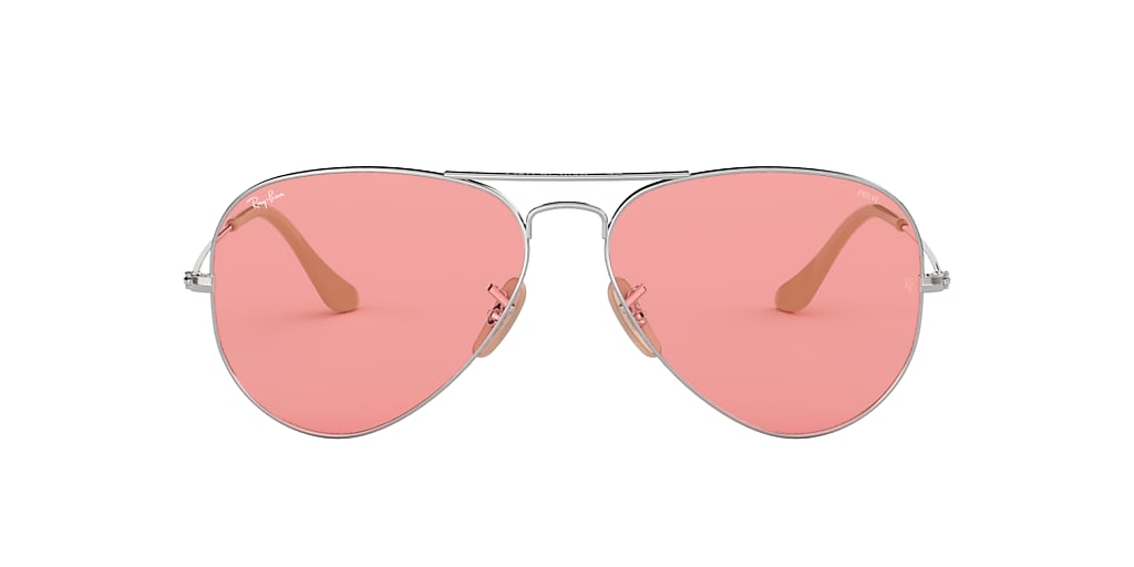 Silver RB3025 AVIATOR EVOLVE Pink  55