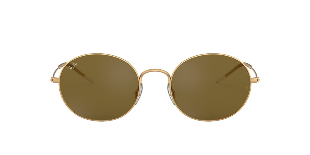 Gold RB3594 RAY-BAN BEAT Dark Brown Classic B-15  53