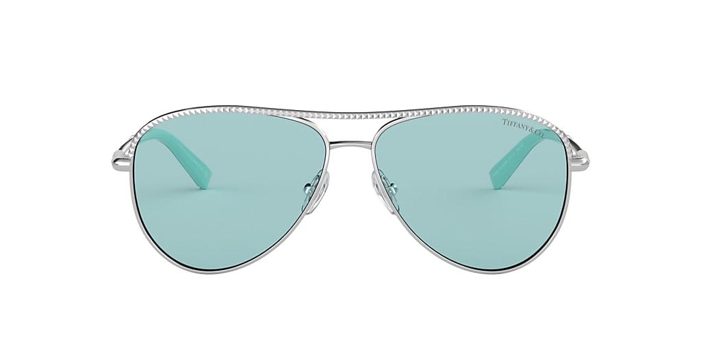Silver TF3062 Tiffany Diamond Point Blue  57