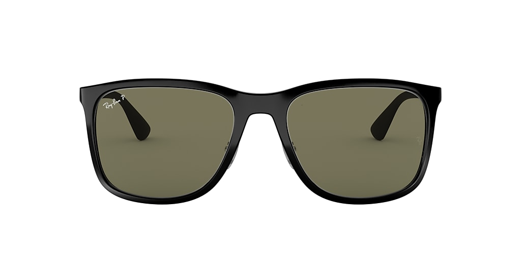 Black RB4313 Polarized Green Classic G-15  58