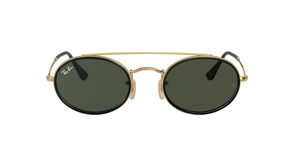 Gold RB3847N OVAL DOUBLE BRIDGE Green Classic G-15  52