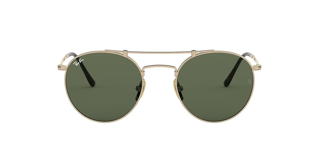 Silver RB8147 ROUND TITANIUM Green  50