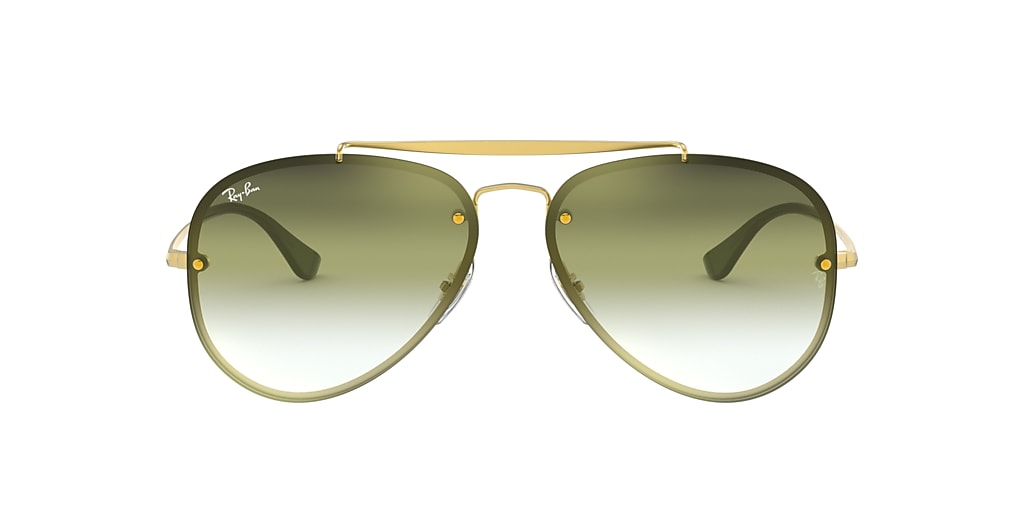 Gold RB3584N BLAZE AVIATOR Green  61