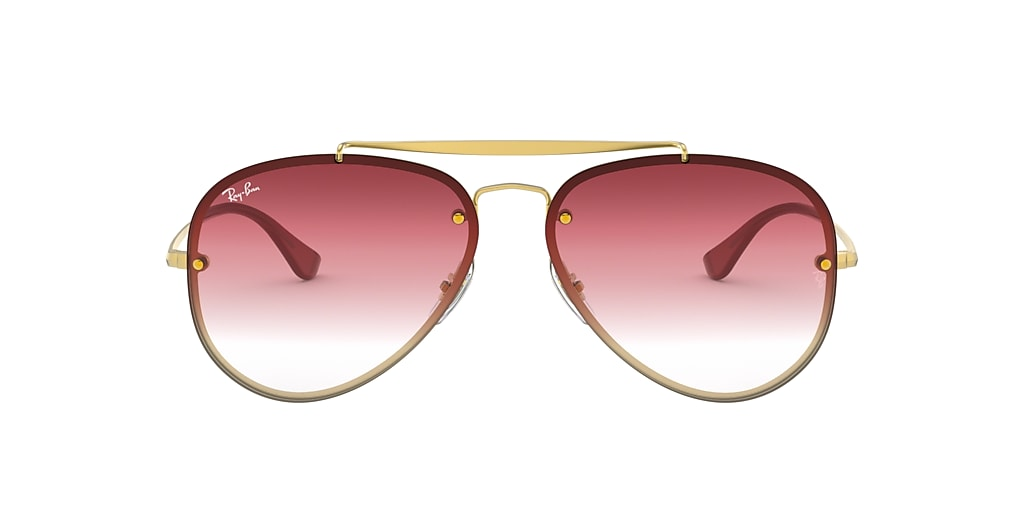 Gold RB3584N BLAZE AVIATOR Dark Red Gradient Mirror  58